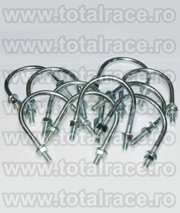 ART. 8- Colier U cu doua piulite si doua saibe