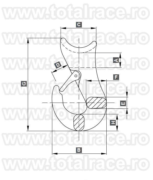 Carlige Choker alunecare cablu serie 112