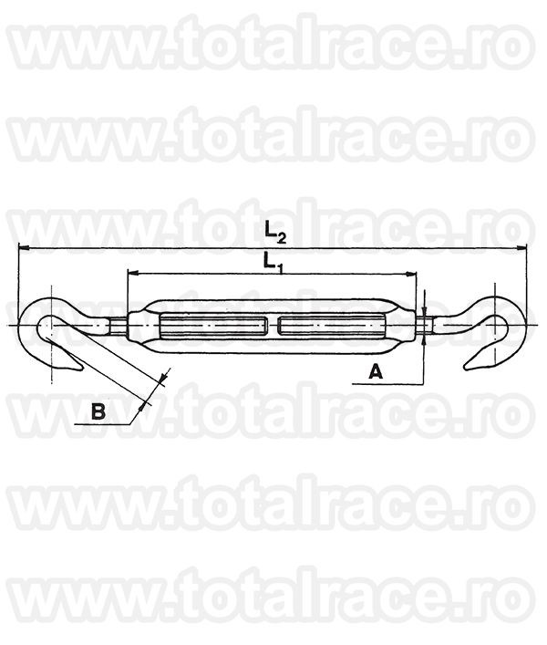 Intinzator carlig-carlig inox Art. 510 Total Race