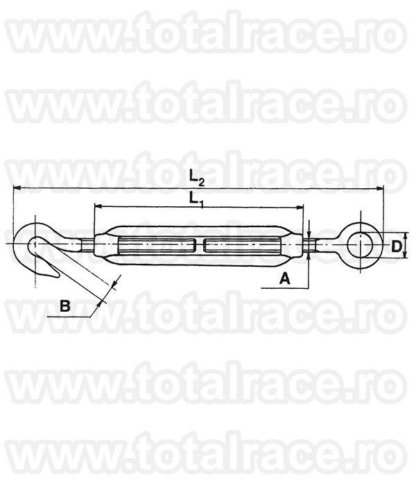 Intinzator ochi-carlig inox Art. 509 Total Race