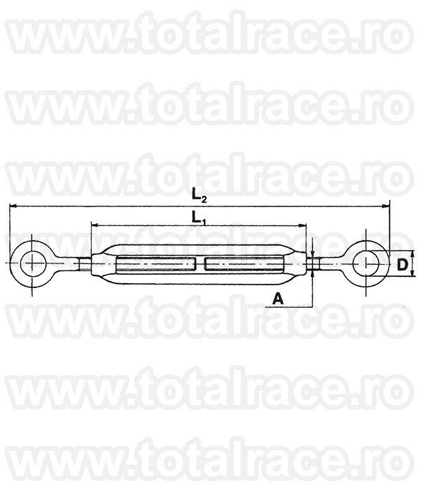 Intinzator ochi-ochi inox Art. 508 Total Race