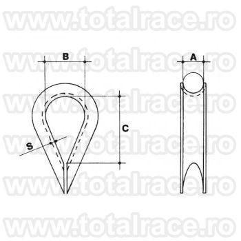 Rodanta inox Art. 552 AISI 316 Total Race