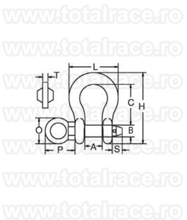Cheie tachelaj / Gambeti / Shackles model G209 R ROV Crosby®