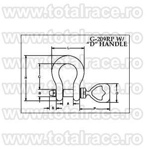 Cheie tachelaj / Gambeti / Shackles model G209 RP ROV Crosby®