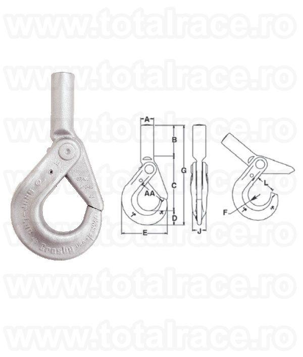S-1318A Grade 100 Shur-loc Shank Hook