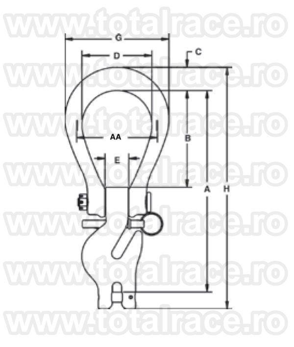 L1361 Eliminator Single Hook Assembly