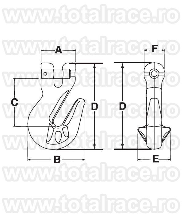 A1338 Clevis Cradle Grab Hook