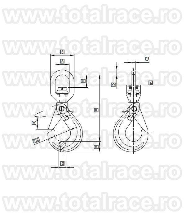 Carlige rotative autoblocare 105