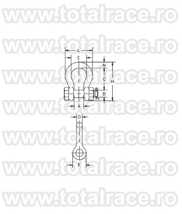 Cheie tachelaj / Gambeti / Shackles model G2130 Crosby®