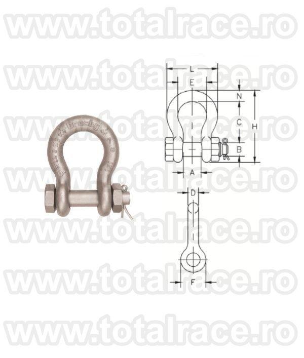 Cheie tachelaj / Gambeti / Shackles model G2130A Crosby®