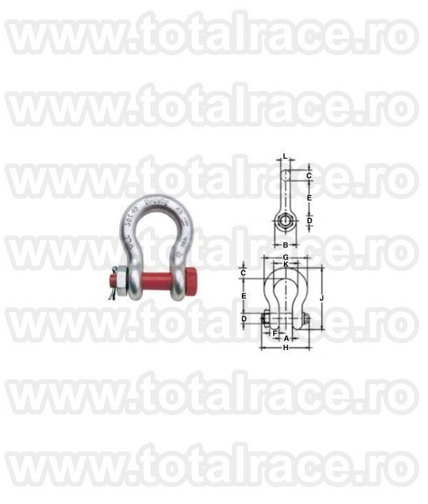 Cheie tachelaj / Gambeti / Shackles model G2140