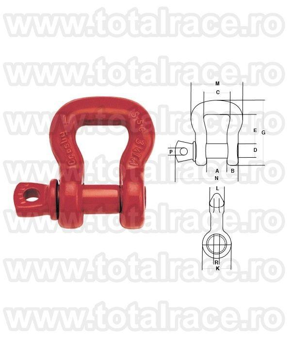 Cheie tachelaj / Gambeti / Shackles model S253 Crosby®