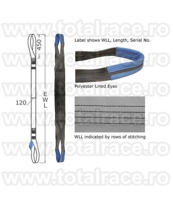 Chingi textile ridicare  cu urechi model MC 120 - 4 tone 8m