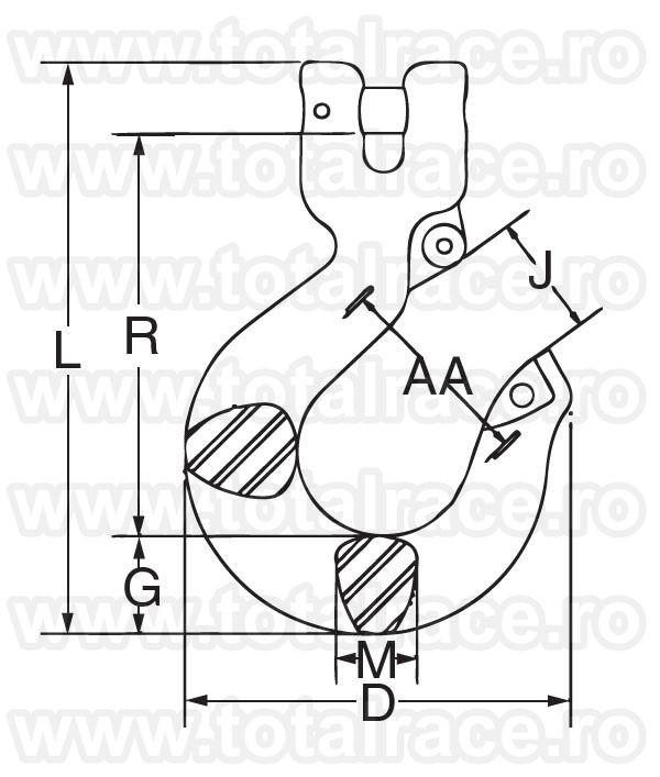 L1339  Grade 100 Clevis Sling Hook