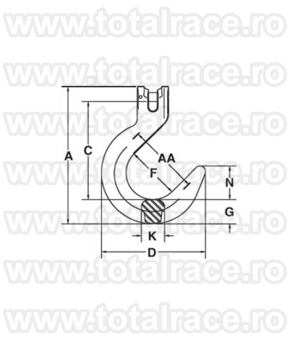 A-1359  Grade 100 Clevis Foundry  Hook