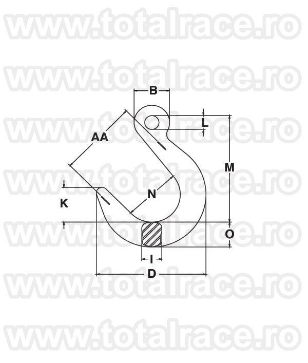 A-1329  Grade 100 Eye Foundry  Hook