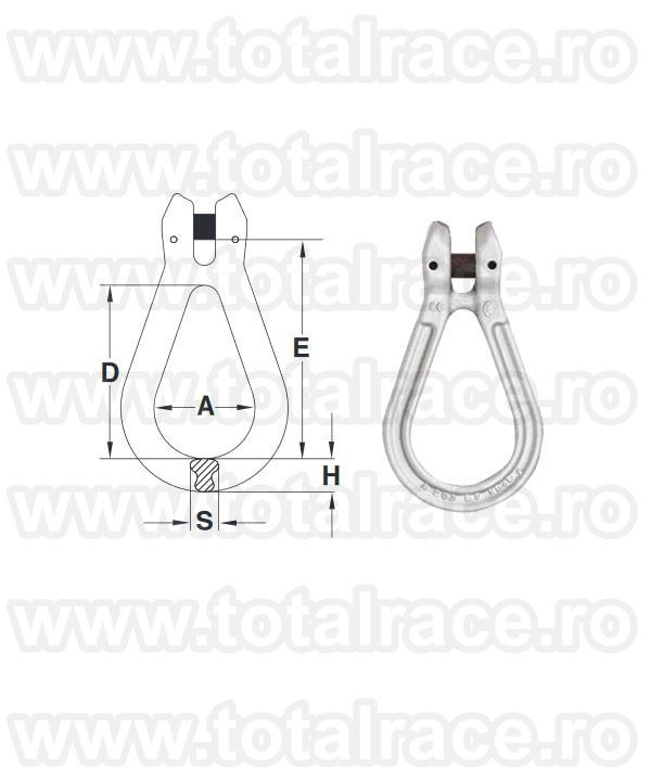 Cupla lant ovala A-1370 Reeving Link