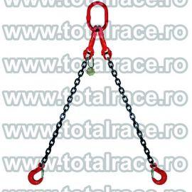 Dispozitiv de ridicare din lant cu 2 brate 16 mm 10 m