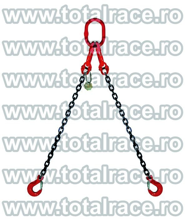 Dispozitiv de ridicare din lant cu 2 brate 6 mm 3.5 m