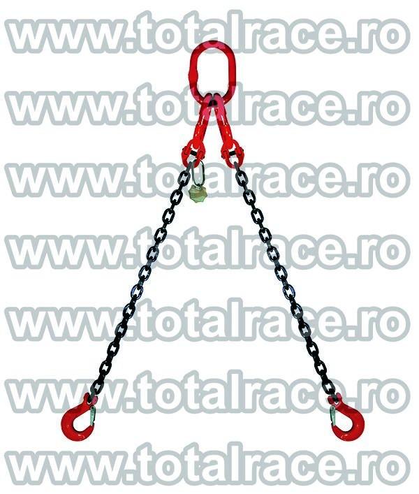 Dispozitiv de ridicare din lant cu 2 brate 8 mm 7 m