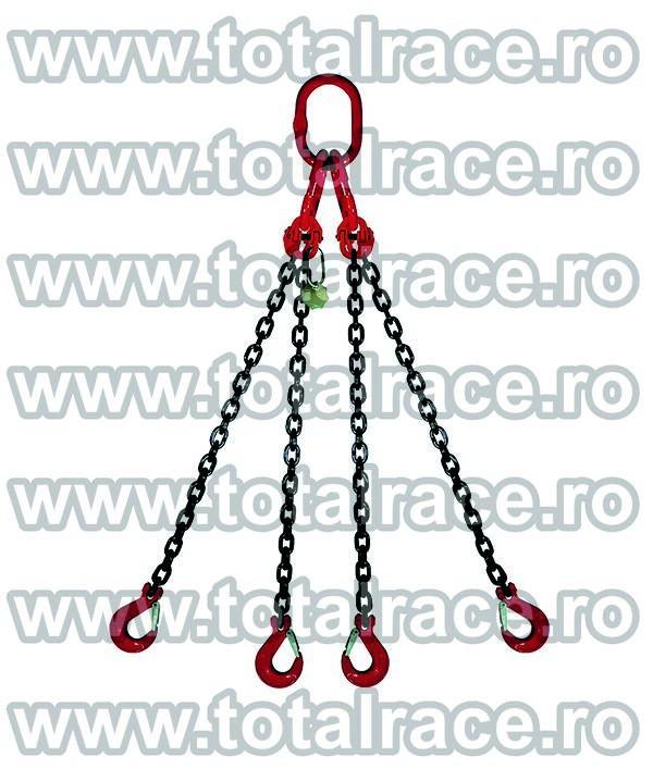 Dispozitiv de ridicare din lant cu 4 brate 6 mm 2 m
