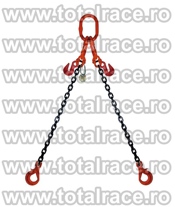 Dispozitiv de ridicare din lant cu 2 brate 16 mm 7 m