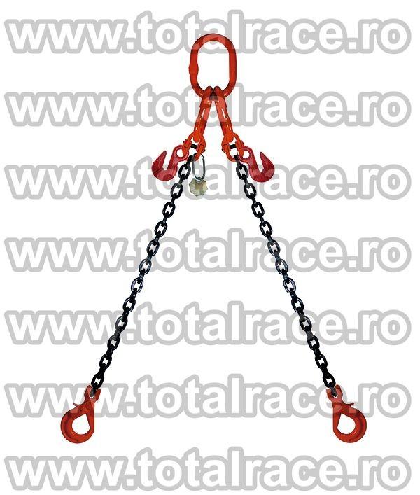 Dispozitiv de ridicare din lant cu 2 brate 13 mm 8m
