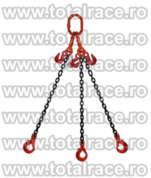 Dispozitiv de ridicare din lant cu 3 brate 6 mm 6 m
