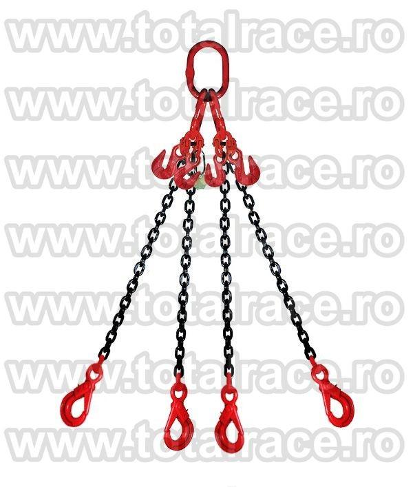 Dispozitiv de ridicare din lant cu 4 brate 6 mm 1 m