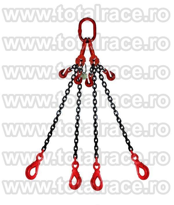 Dispozitiv de ridicare din lant cu 4 brate 10 mm 1.5 m