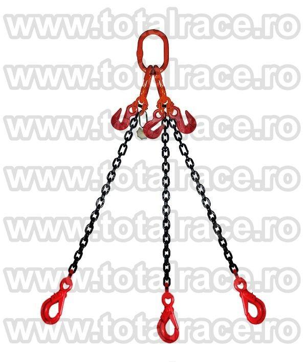 Dispozitiv de ridicare din lant cu 4 brate 13 mm 7 m