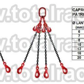 Dispozitiv de ridicare din lant cu 4 brate 8 mm