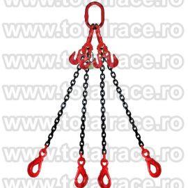 Dispozitiv de ridicare din lant cu 4 brate 7 mm 2.5 m