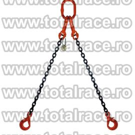 Dispozitiv de ridicare din lant cu 2 brate 7 mm 5 m