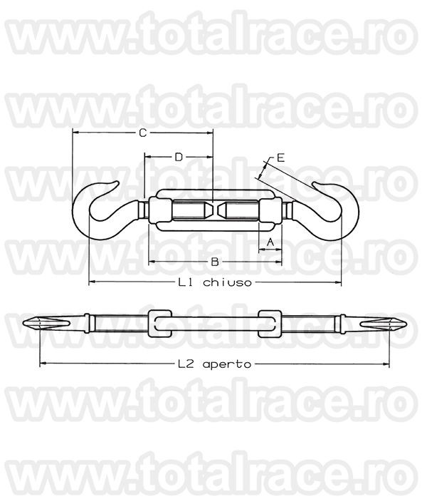Intinzator cablu Art.163 Carlig-Carlig