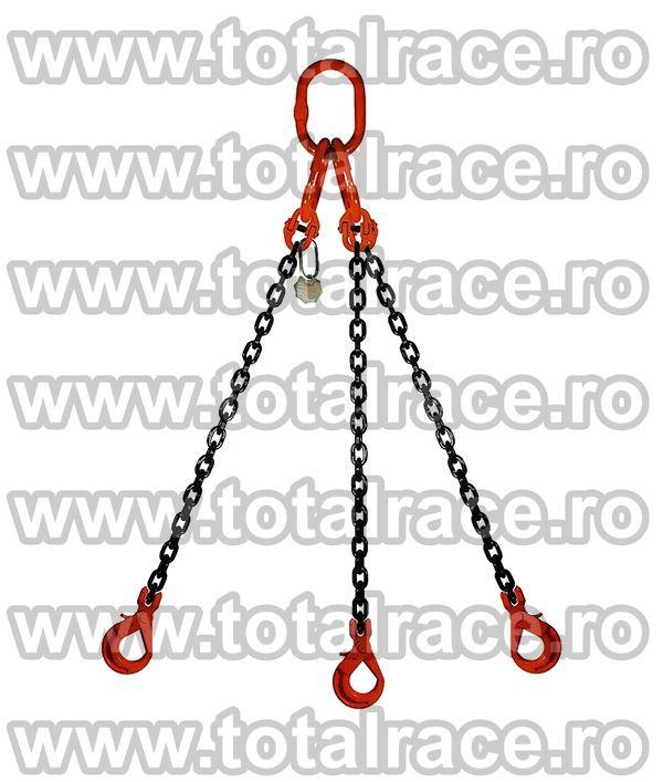 Dispozitiv de ridicare din lant cu 3 brate 16 mm 2 m