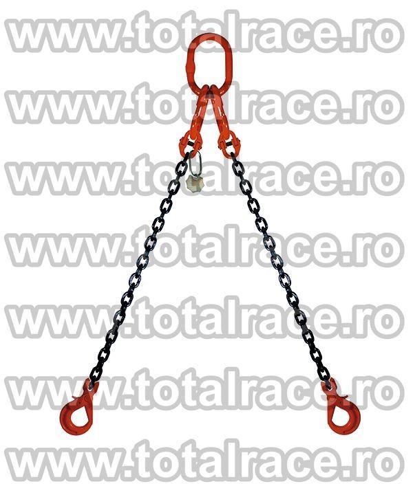 Dispozitiv de ridicare din lant cu 2 brate 6 mm 1 m