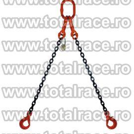 Dispozitiv de ridicare din lant cu 2 brate 7 mm 4 m
