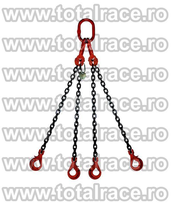 Dispozitiv de ridicare din lant cu 4 brate 16 mm 6 m