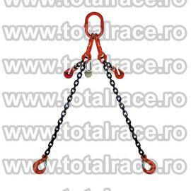 Dispozitiv de ridicare din lant cu 2 brate 7 mm 1 m