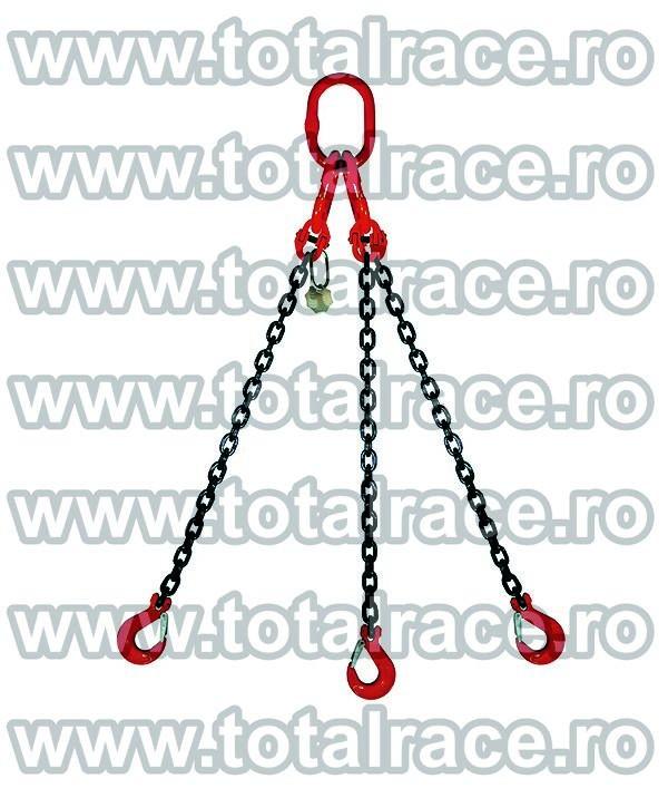 Dispozitiv de ridicare din lant cu 3 brate 13 mm 4 m