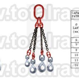 Dispozitiv de ridicare din lant cu 4 brate 16 mm