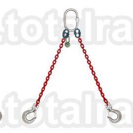 Dispozitiv de ridicare  din lant cu 2 brate carlig clevis cu siguranta Crosby
