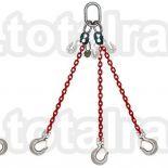 Dispozitiv de ridicare  din lant cu 3 brate carlig clevis cu siguranta Crosby
