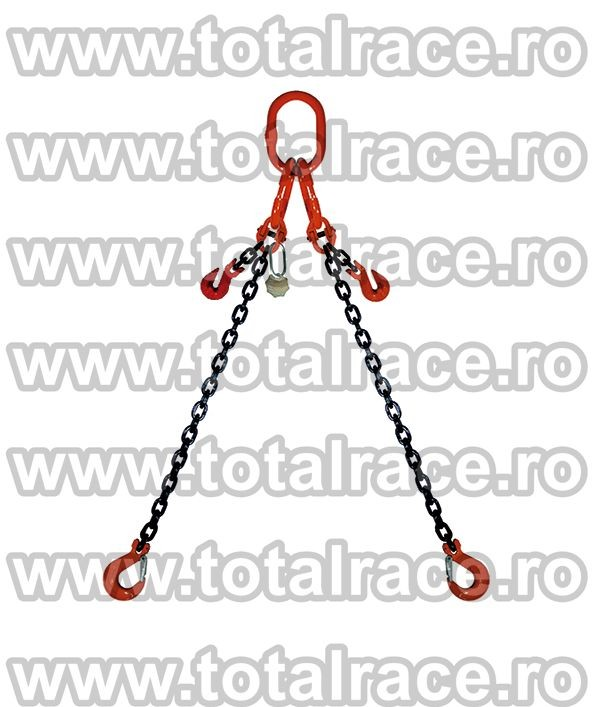 Dispozitiv de ridicare din lant cu 2 brate 6 mm 4 m