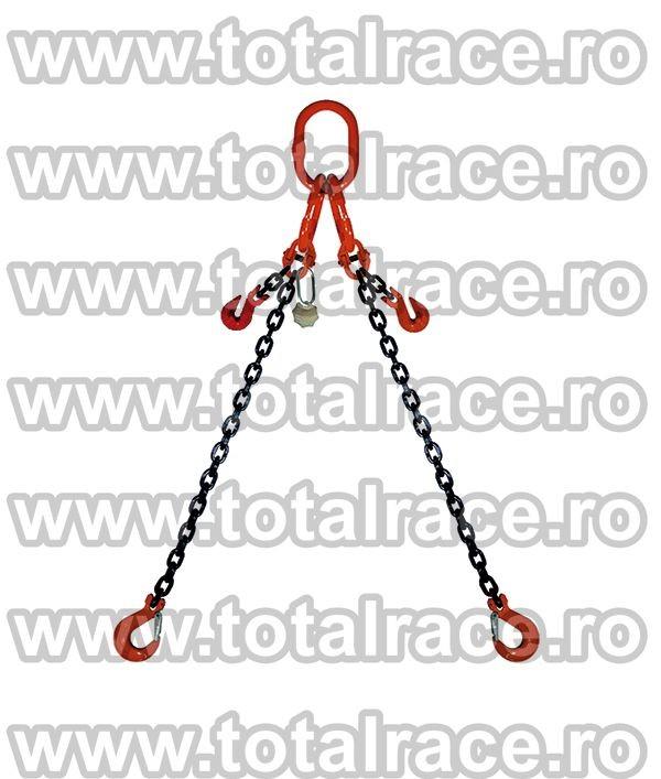 Dispozitiv de ridicare din lant cu 2 brate 7 mm 9 m