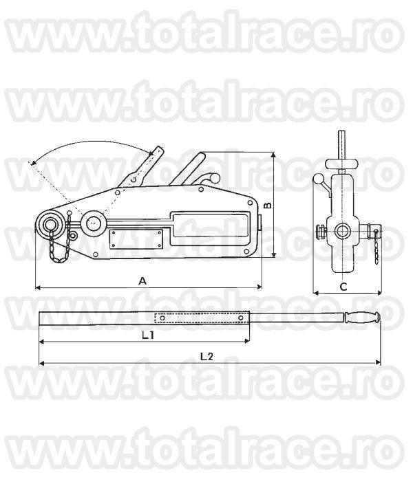Tirfor manual cu levier model 147/05 productie Germania pentru ridicare si tractare