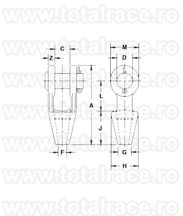 G416 - Open Spelter Socket