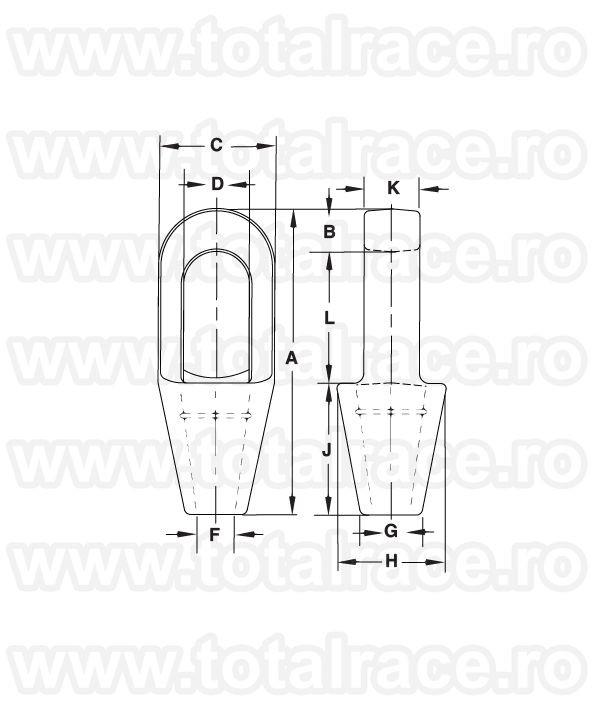 G417 - Closed Spelter Socket