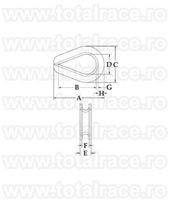 G414 - Extra Heavy Wire RopeThimbles